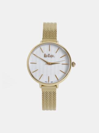 Dámske hodinky s kovovým remienkom v zlatej farbe Lee Cooper