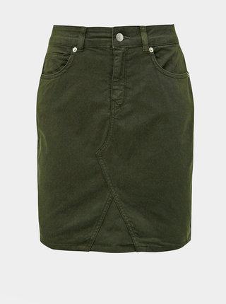 Kaki rifľová sukňa Selected Femme Megan