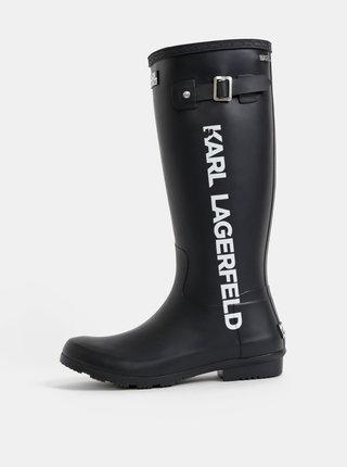 Čierne dámske gumáky KARL LAGERFELD Kalosh
