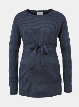 Modrý těhotenský pruhovaný svetr Mama.licious Paula
