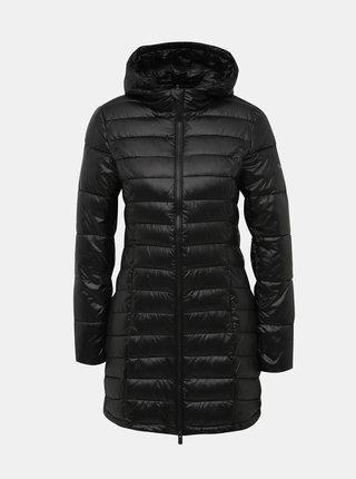Čierny prešívaný zimný kabát Pepe Jeans Alice