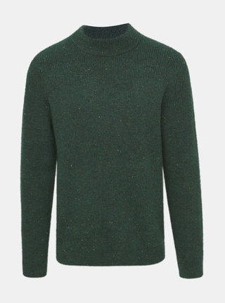 Tmavozelený sveter s prímesou vlny ONLY & SONS Patrick