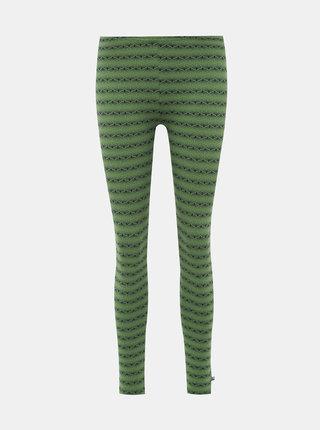 Zelené vzorované legíny Tranquillo Meduna