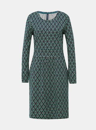 Modré vzorované šaty Tranquillo Loretta