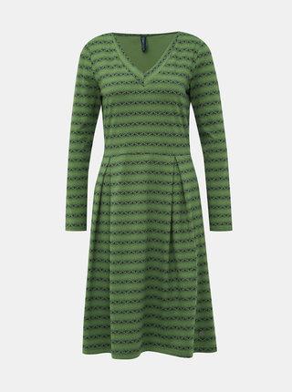 Zelené vzorované šaty Tranquillo Nair