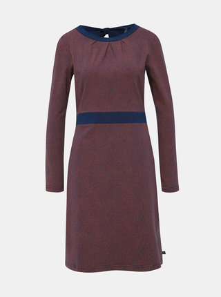 Vínové vzorované šaty Tranquillo Heze