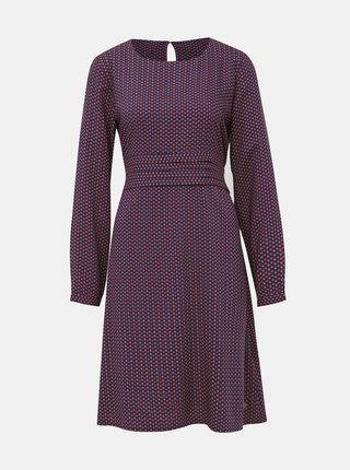 Fialové vzorované šaty Tranquillo Lukida