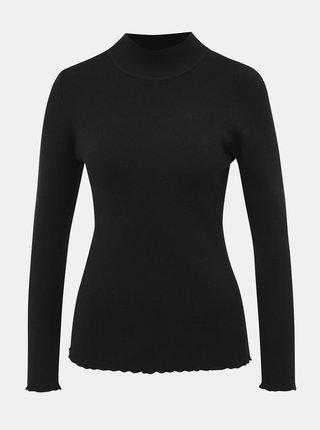 Čierny dámsky basic sveter so stojáčikom Haily´s Roly