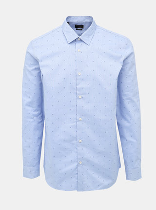 Světle modrá regular fit košile s drobným vzorem Selected Homme Regpen