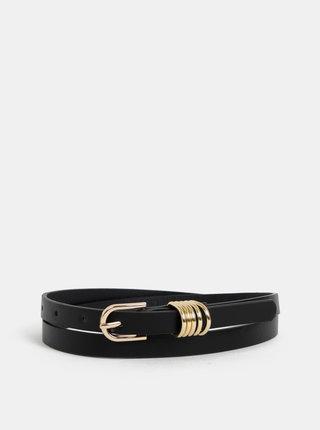 Sada dvou dámských pásků v černé a starorůžové barvě s hadím vzorem Haily´s Jamila
