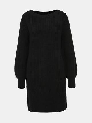 Černé svetrové šaty ONLY Attilana