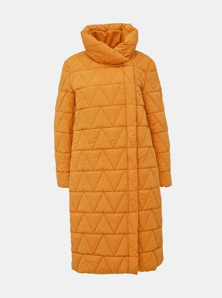Hořčicový zimní kabát VILA Jaxie