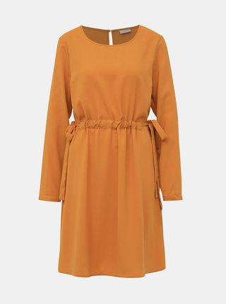 Oranžové šaty VILA Sarina