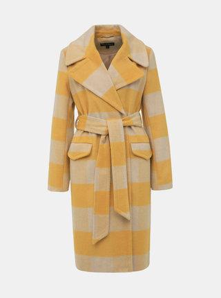 Žlutý kostkovaný kabát Miss Selfridge