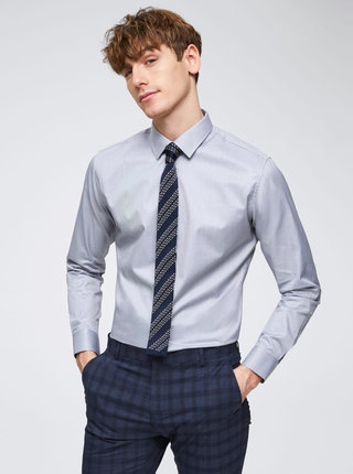 Sivá formálna slim fit košeľa Selected Homme Pen-Pelle