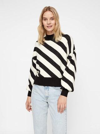 Bielo-čierny pruhovaný sveter VERO MODA Labi