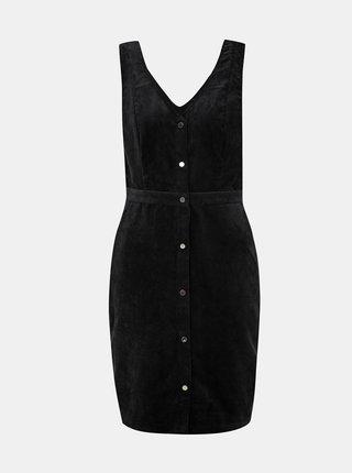 Černé manšestrové šaty VERO MODA Ayoe