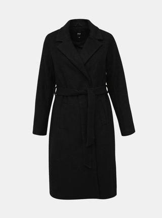 Černý kabát s příměsí vlny Zizzi Yolanda
