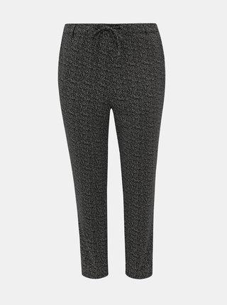 Černé vzorované kalhoty Zizzi Maddison