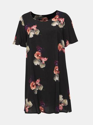Čierne kvetované šaty Zizzi Peone