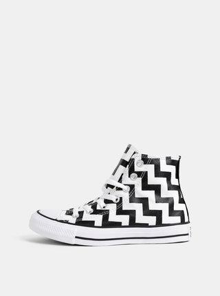 Černo-bílé vzorované kotníkové tenisky Converse All Star