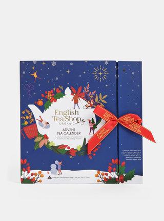 Tmavomodrý čajový adventný kalendár English Tea Shop