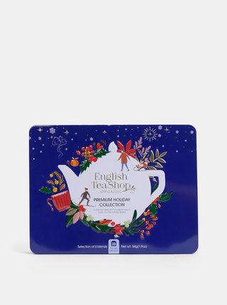 Tmavě modrá vánoční prémiová kolekce čajů English Tea Shop