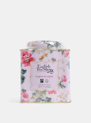 Sypaný černý čaj v plechovce v růžové barvě English Tea Shop