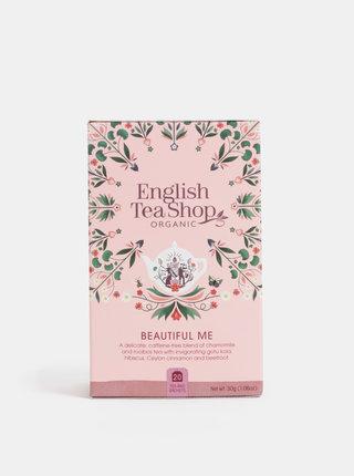 Bio bylinný čaj s heřmánkem, pupečníkem obecným, ibiškem a skořicí English Tea Shop Pro krásu
