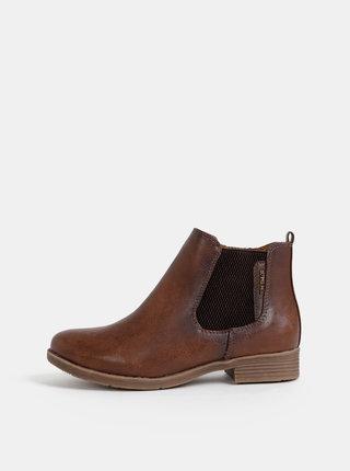 Hnědé dámské chelsea boty Tom Tailor