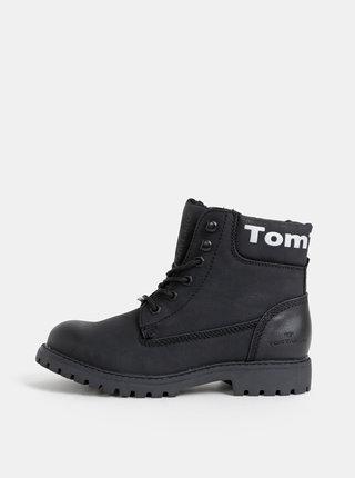 Černé dámské kotníkové zimní boty Tom Tailor