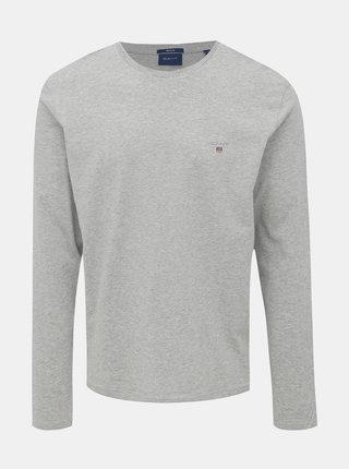 Šedé pánské basic tričko GANT