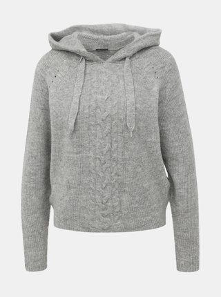 Šedý sveter s kapucou TALLY WEiJL