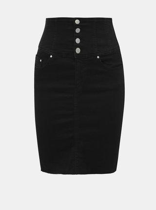 Černá pouzdrová džínová sukně s vysokým pasem TALLY WEiJL