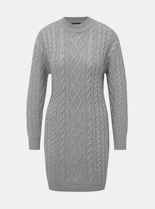 Šedé svetrové šaty TALLY WEiJL