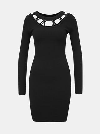 Černé svetrové šaty TALLY WEiJL