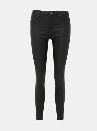 Černé koženkové push up skinny fit kalhoty TALLY WEiJL