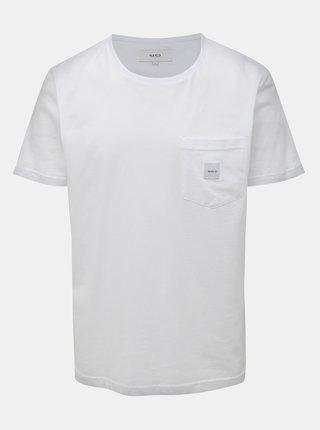 Biele pánske tričko s vreckom Makia Square Pocket