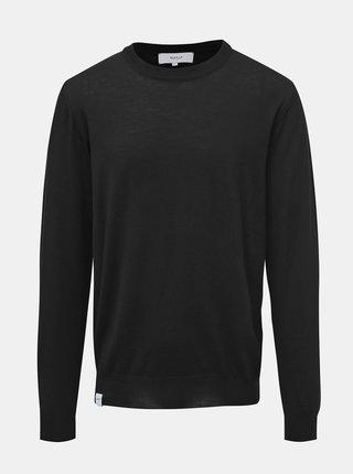 Čierny pánsky basic sveter z Merino vlny Makia Merino