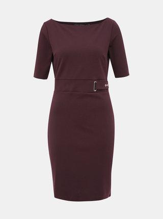 Tmavě hnědé pouzdrové šaty Dorothy Perkins