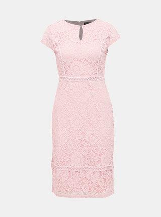 Svetloružové krajkové šaty Dorothy Perkins
