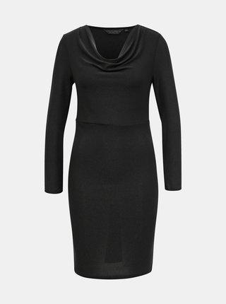 Černé pouzdrové třpytivé šaty Dorothy Perkins