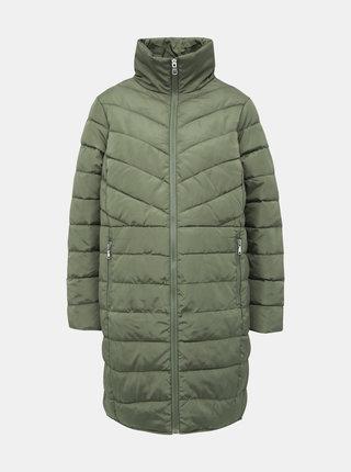 Zelený tehotenský prešívaný zimný kabát Dorothy Perkins Maternity