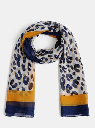 Světle šedý šátek s gepardím vzorem Dorothy Perkins