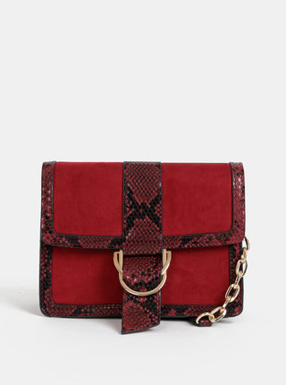 Červená crossbody kabelka v semišovej úprave Dorothy Perkins