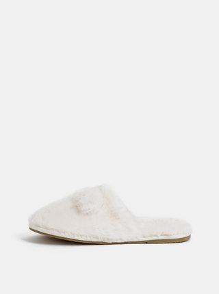 Krémové pantofle VERO MODA Lise