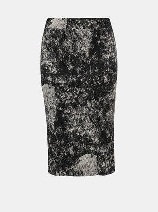 Čierna vzorovaná púzdrová sukňa Noisy May Paint