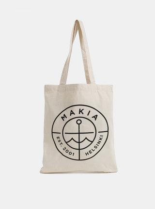 Krémová plátěná taška s potiskem Makia Range