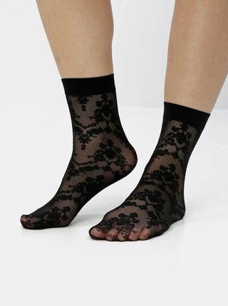 Černé krajkové ponožky VERO MODA Salinas