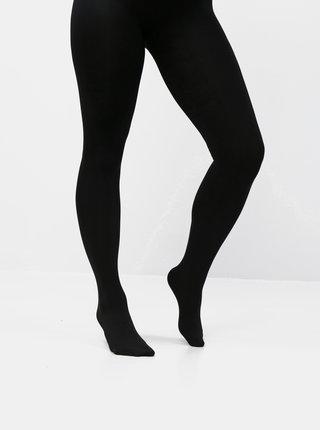Černé fleecové punčochové kalhoty VERO MODA Love